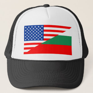 united states america bulgaria half flag usa count trucker hat