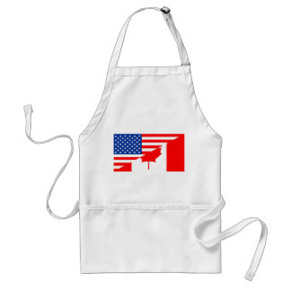 united states america canada half flag usa country standard apron