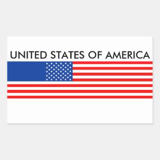 united states america country flag usa symbol rectangular sticker