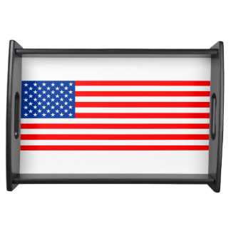 united states america country flag usa symbol serving tray