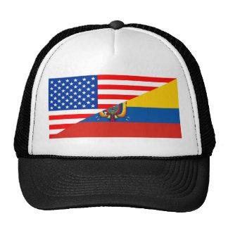 united states america ecuador half flag usa cap