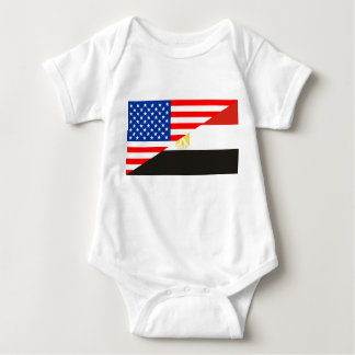 united states america egypt half flag usa country baby bodysuit