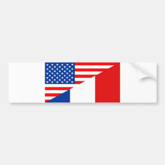 united states america france half flag usa country bumper sticker
