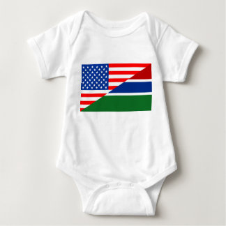 united states america gambia half flag usa country baby bodysuit