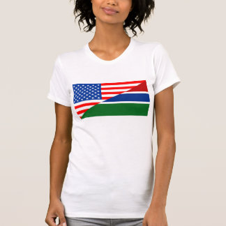 united states america gambia half flag usa country T-Shirt