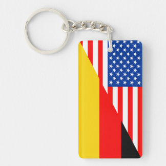 united states america germany half flag usa countr key ring