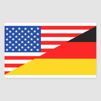 united states america germany half flag usa countr rectangular sticker