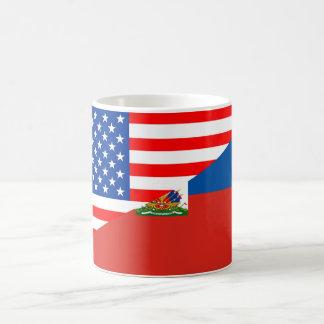 united states america haiti half flag usa country coffee mug