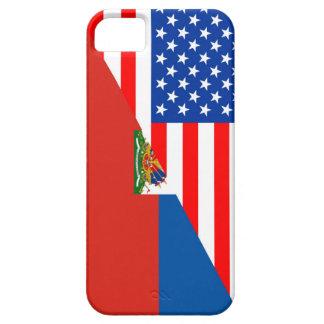 united states america haiti half flag usa country iPhone 5 cover