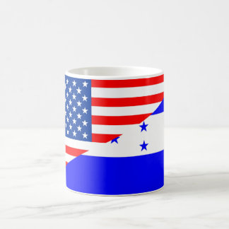 united states america honduras half flag usa count coffee mug