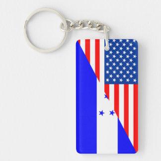 united states america honduras half flag usa count key ring