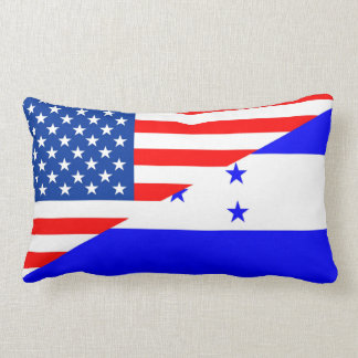 united states america honduras half flag usa count lumbar cushion