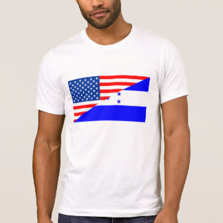 united states america honduras half flag usa count T-Shirt