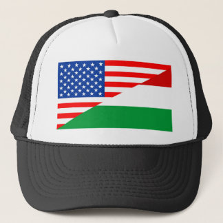 united states america hungary half flag usa trucker hat