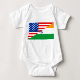 united states america india half flag usa country baby bodysuit