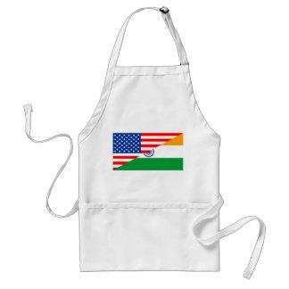 united states america india half flag usa country standard apron