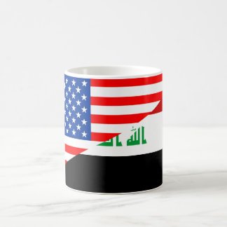 united states america iraq half flag usa country coffee mug