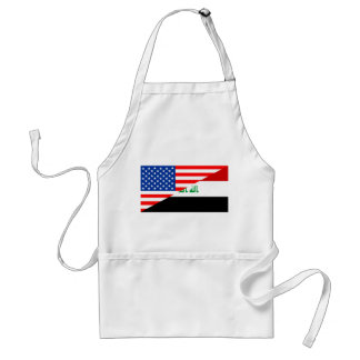 united states america iraq half flag usa country standard apron