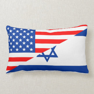 united states america israel half flag usa country lumbar cushion