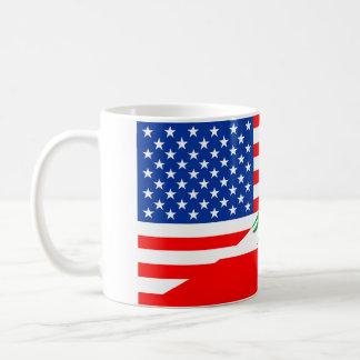 united states america lebanon half flag usa countr coffee mug