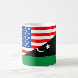 united states america libya half flag usa coffee mug
