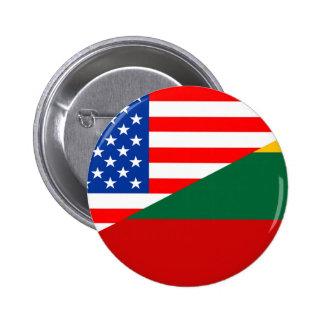 united states america lithuania half flag usa coun 6 cm round badge
