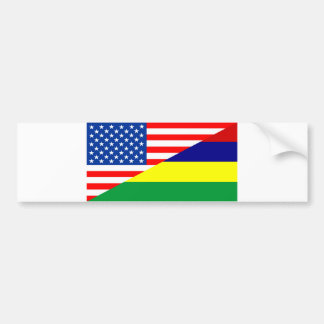 united states america mauritius half flag usa coun bumper sticker