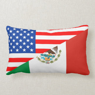 united states america mexico half flag usa country lumbar cushion