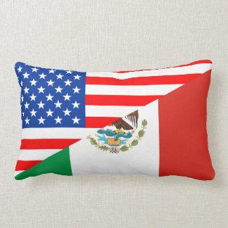 united states america mexico half flag usa country lumbar pillow