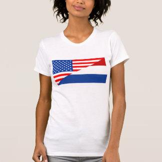 united states america netherlands half flag usa T-Shirt