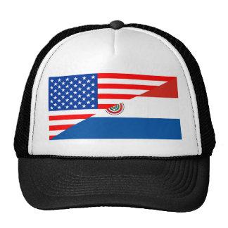 united states america paraguay half flag usa cap