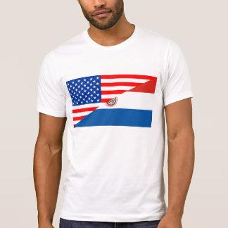 united states america paraguay half flag usa T-Shirt