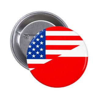 united states america poland half flag usa country 6 cm round badge