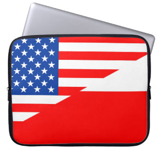 united states america poland half flag usa country laptop sleeve