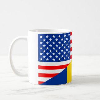 united states america romania half flag usa countr coffee mug