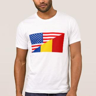 united states america romania half flag usa T-Shirt