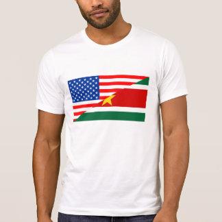 united states america suriname half flag usa count T-Shirt