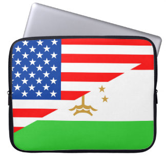 united states america tajikistan half flag usa cou computer sleeves