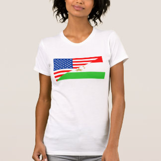 united states america tajikistan half flag usa cou T-Shirt