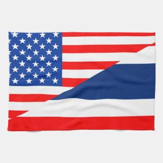 united states america thailand half flag usa tea towel