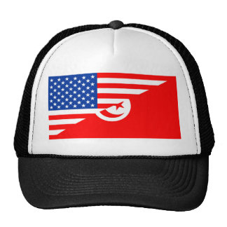 united states america tunisia half flag usa countr cap