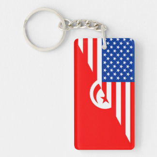 united states america tunisia half flag usa countr key ring