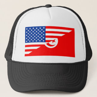 united states america tunisia half flag usa countr trucker hat