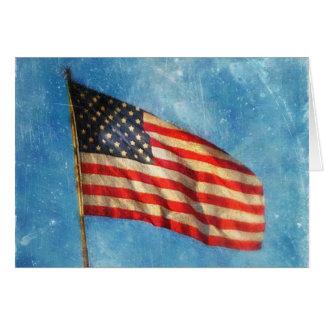 United States American Flag Greeting Card