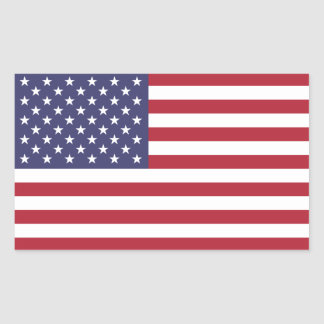 United States/American Flag, USA/US Rectangular Sticker