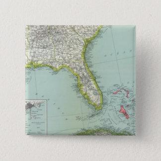 United States and Bahamas 15 Cm Square Badge