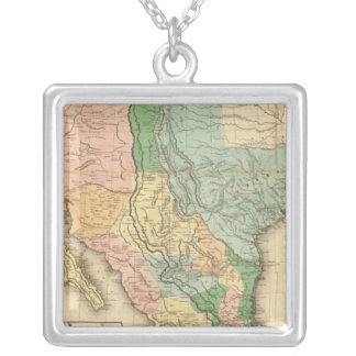 United States and Mexico Silver Plated Necklace