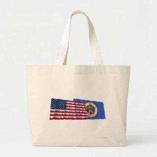 United States and Minnesota Waving Flags Bag