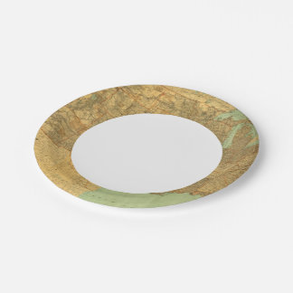 United States and Territories 7 Inch Paper Plate