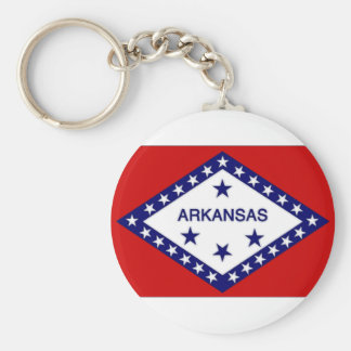 United States Arkansas Flag Key Ring